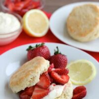 Strawberry Shortcake with Lemon Cream Sauce