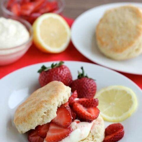 Strawberry Shortcake with Lemon Cream Sauce