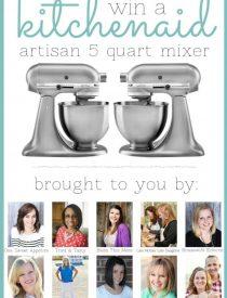 5QT KitchenAid Mixer Giveaway April 14th - 18th, 2014