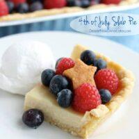 4th of July Slab Pie