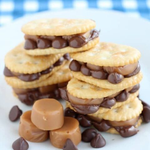 Caramel and Chocolate Cracker Treats