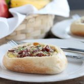 Bacon and Egg Breakfast Boats