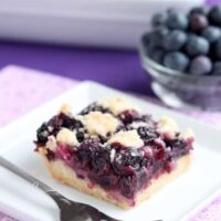 Blueberry Crumb Bars from DessertNowDinnerLater.com