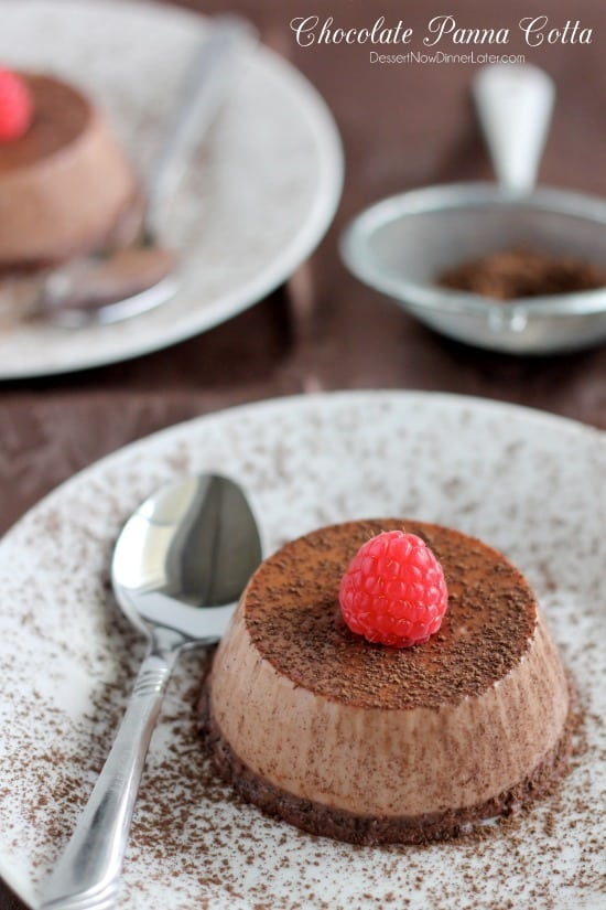 Chocolate Panna Cotta - Dessert Now, Dinner Later!