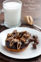 Chocolate Peanut Butter Cup Donuts
