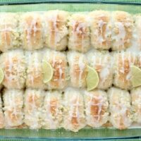 Coconut Lime Pull Apart Rolls