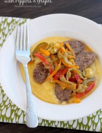 Italian Sausages with Peppers and Grapes