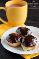 Mini Boston Cream Donuts