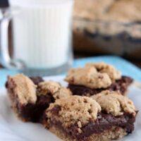 Oatmeal Fudge Bars from DessertNowDinnerLater.com