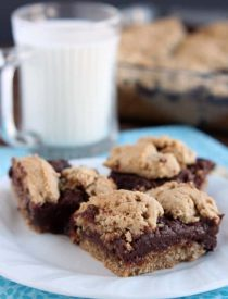 Oatmeal Fudge Bars from DessertNowDinnerLater.com