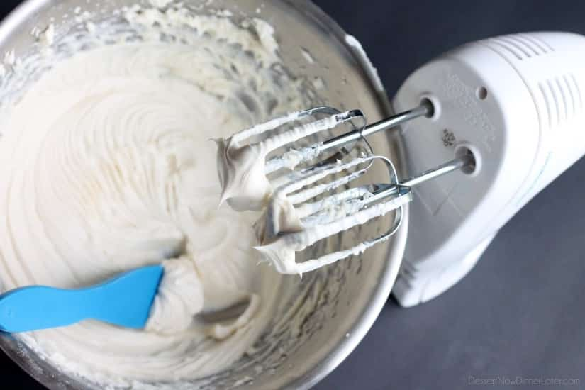 The BEST Cream Cheese Frosting - thick, sturdy, and pipeable, plus not overly sweet!