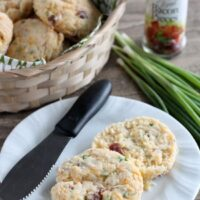Bacon Cheddar Biscuits from DessertNowDinnerLater.com