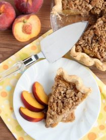 Peach Pie from DessertNowDinnerLater.com