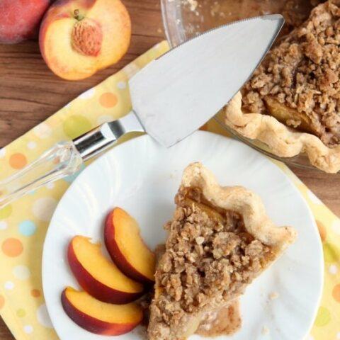 Peach Pie from DessertNowDinnerLater.com