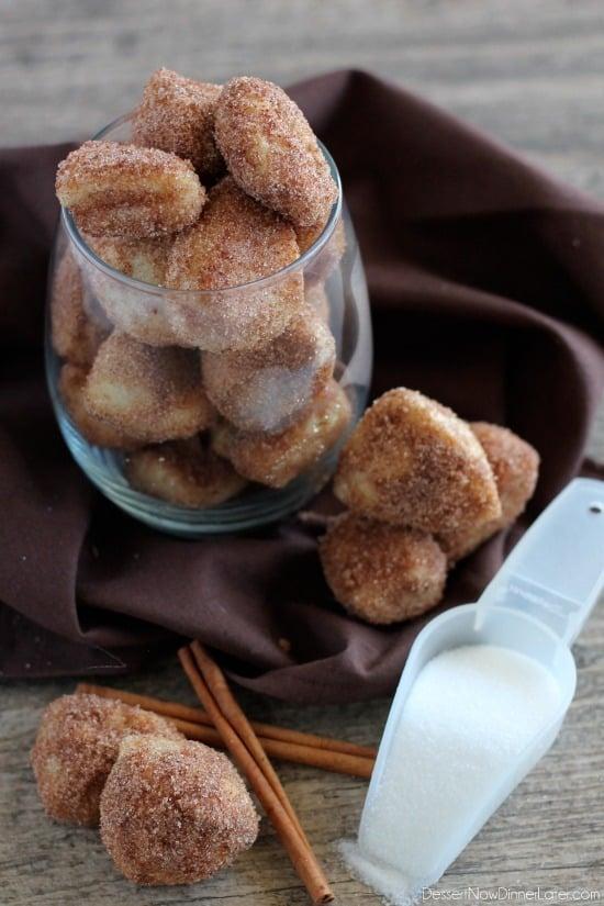 Cinnamon Sugar Pretzel Bites from DessertNowDinnerLater.com