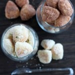 Garlic Parmesan and Cinnamon Sugar Pretzel Bites