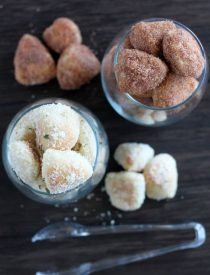 Garlic Parmesan and Cinnamon Sugar Pretzel Bites from DessertNowDinnerLater.com