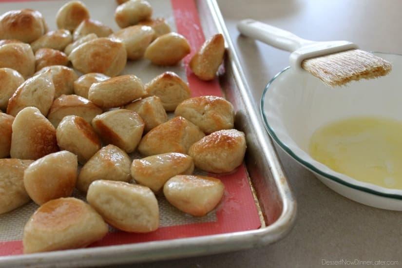 Pretzel Bites from DessertNowDinnerLater.com