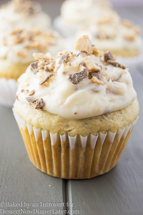 Banana Chocolate Toffee Cupcakes - Dessert Now, Dinner Later!