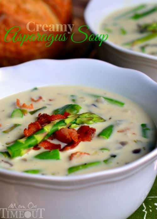 Creamy Asparagus Soup from Mom on Timeout
