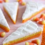 Candy Corn Sugar Cookie Bars