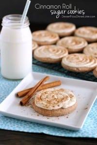 Cinnamon Roll Sugar Cookies - Dessert Now, Dinner Later!