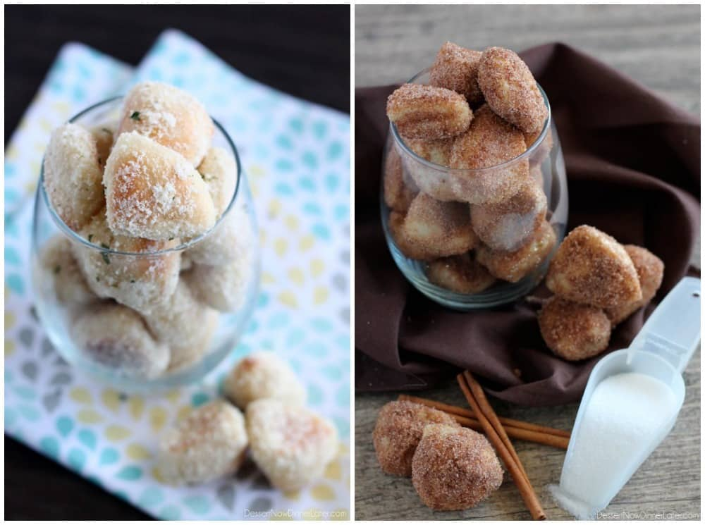 Garlic Parmesan & Cinnamon Sugar Pretzel Bites