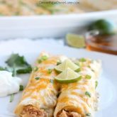 Honey Lime Chicken Enchiladas from DessertNowDinnerLater.com