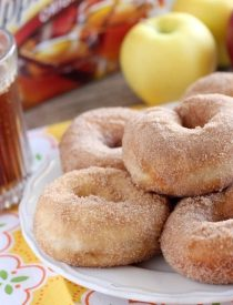 Only 3 ingredients and you can have delicious, fall inspired, Apple Cider Donuts! From DessertNowDinnerLater.com