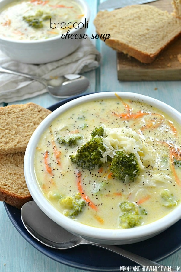 ... broccoli cheese soup! A perfect lunchtime soup with fresh bread