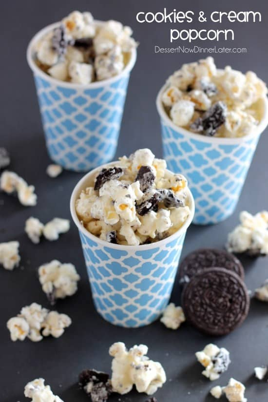Cookies and Cream Popcorn - white chocolate and Oreos come together to ...