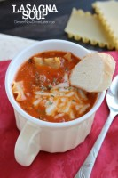 Lasagna Soup - tastes just like a meat lasagna in a comforting soup! From DessertNowDinnerLater.com