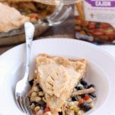 Use that leftover Thanksgiving turkey in this Southwestern Turkey Pot Pie with corn, black beans, peppers, and a gravy with a kick! From DessertNowDinnerLater.com