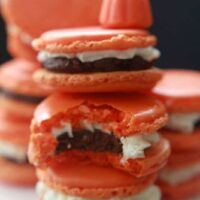 Pumpkin Spice Macarons filled with Pumpkin Spice Dark Chocolate Ganache and Pumpkin Buttercream