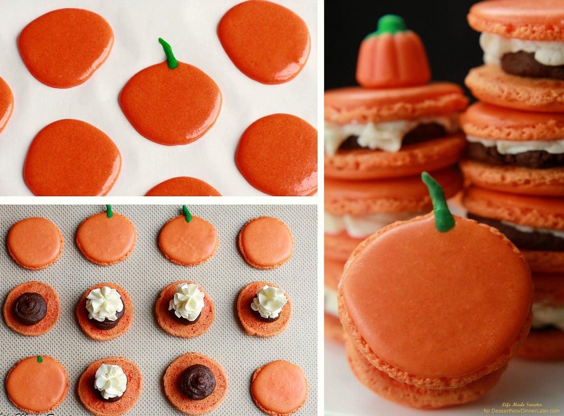 Pumpkin Buttercream Filled Macarons with Pumpkin Spice Dark ...