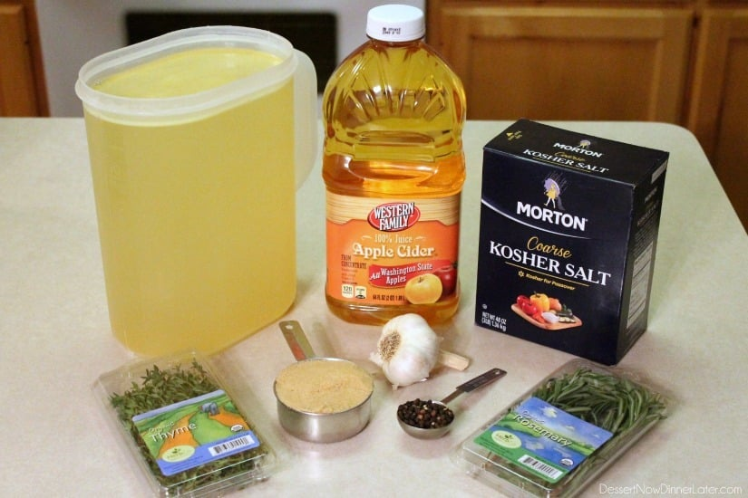 Apple and Herb Turkey Brine with step-by-step photos on how to brine ...