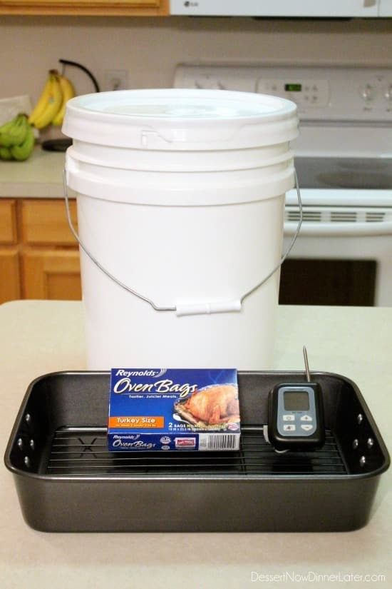 Items to brine and bake the perfect turkey!