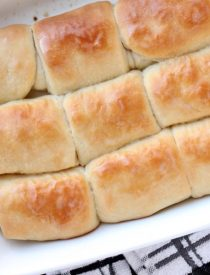 These Parker House Dinner Rolls are easy enough for beginners! With step-by-step photos, you will see just how simple it is to create these soft, buttery dinner rolls! From DessertNowDinnerLater.com