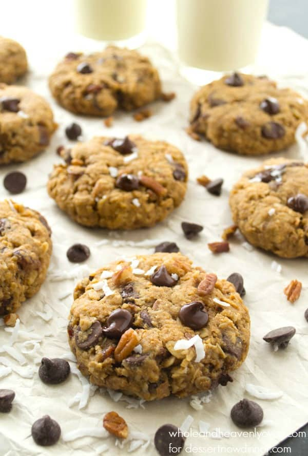 Soft-Baked Kitchen Sink Cookies --- these super-soft and chewy cookies are literally loaded with everything!