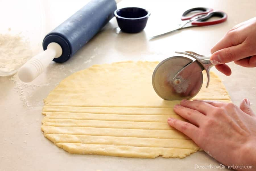 how to make lattice pastry without a lattice cutter