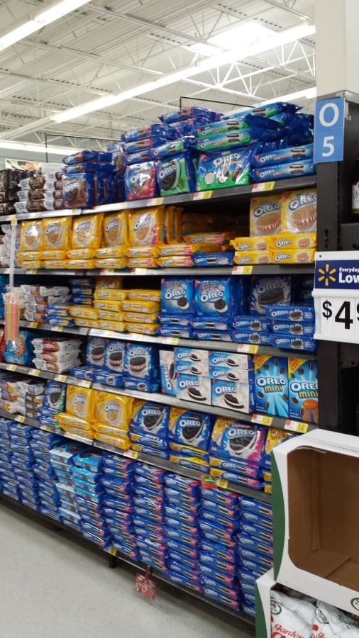 OREO Cookie Aisle at Walmart.
