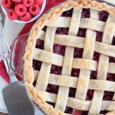 Raspberry Pie with Lattice Crust and Braided Edge
