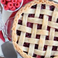 Raspberry Pie with Lattice Crust and Braided Edge
