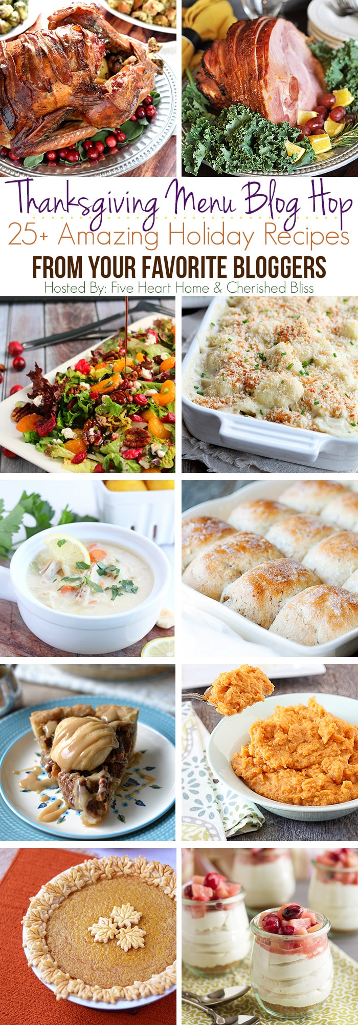 25 + Thanksgiving and Holiday Menu Recipes on DessertNowDinnerLater.com