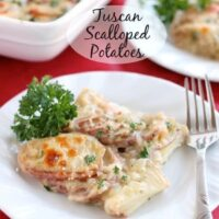 Tuscan Scalloped Potatoes
