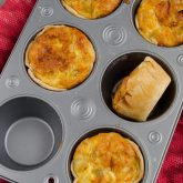 butternut squash and leek personal quiches