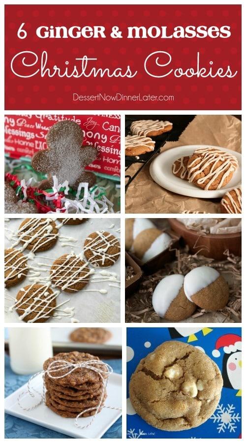 6 Ginger & Molasses Christmas Cookies