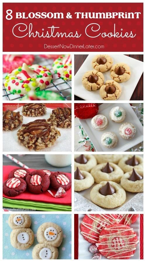 8 Blossom & Thumbprint Christmas Cookies