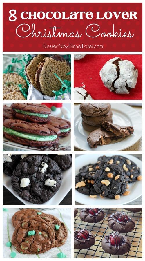 8 Chocolate Lover Christmas Cookies