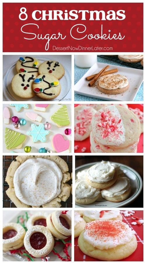 8 Christmas Sugar Cookies